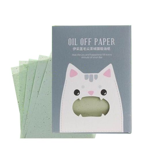 [Bear Gray] 3 Sets Unisex Facial Oil Blotting Papers Oil Control Papers