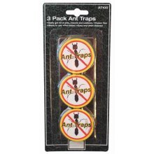 Pack Of 3 Ant Traps - Poison Free Ready Use Indoor Outdoor New x Packs Baited -  3 ant poison free traps ready use indoor outdoor new x packs baited