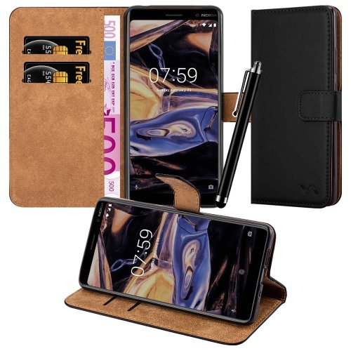 For Nokia 7 Plus Premium Leather Wallet Case Cover
