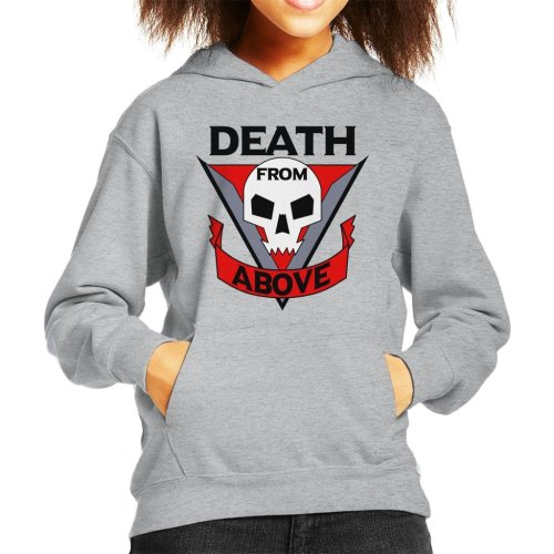 Death From Above Starship Troopers Kid's Hooded Sweatshirt