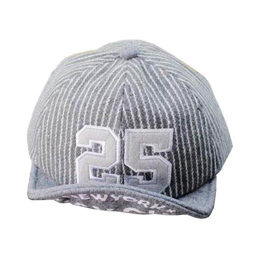 Fashion Baby Woolen Cap Kids Warm Winter Baseball Cap 25 Gray