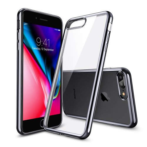 new style 22483 f1fd1 ESR iPhone 8 Plus Case, iPhone 7 Plus Case, Crystal Clear Transparent Gel  Case [Slim-Fit] [Anti-Scratch] [Shock Absorption] for iPhone 7 Plus...