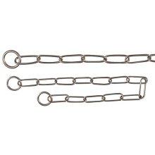 Trixie Stainless Steel Single Row Choke Chain, 68cm x 4.0mm - Long Link Chain -  trixie steel stainless long link choke chain sizes colcatena mesh