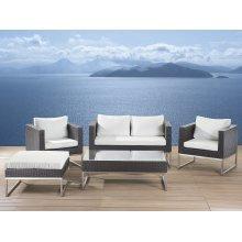 Modern Outdoor Conversation Set - Wicker Patio Furniture - CREMA