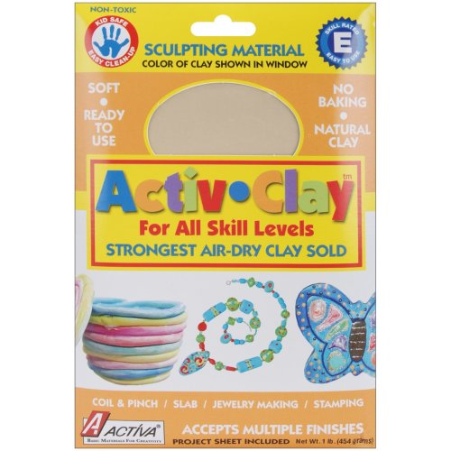 Activ-Clay Air-Dry Clay 1lb-White