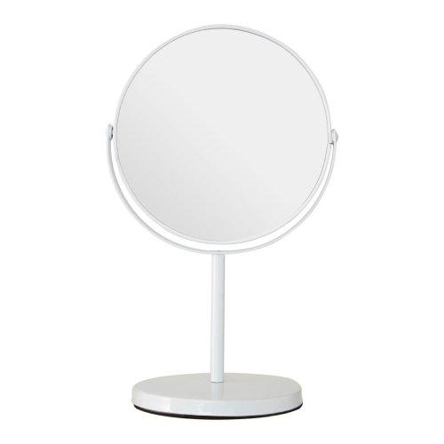 White Metal Pedestal Mirror | Magnifying Makeup Mirror