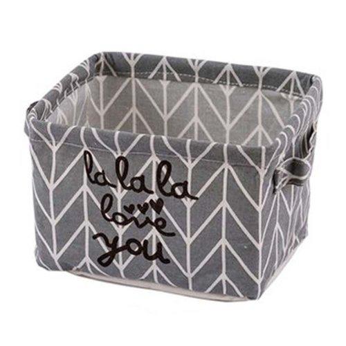 Desktop Organizer Bag Storage Box Folding Storage Basket #12