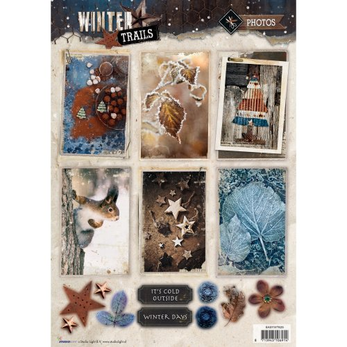 Studio Light Winter Trails Easy 3D Punched Sheet A4-