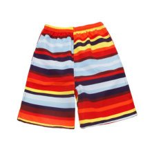 Stripe Quick-drying Pants Men Casual Boardshorts Holiday Loose Beach Shorts Red