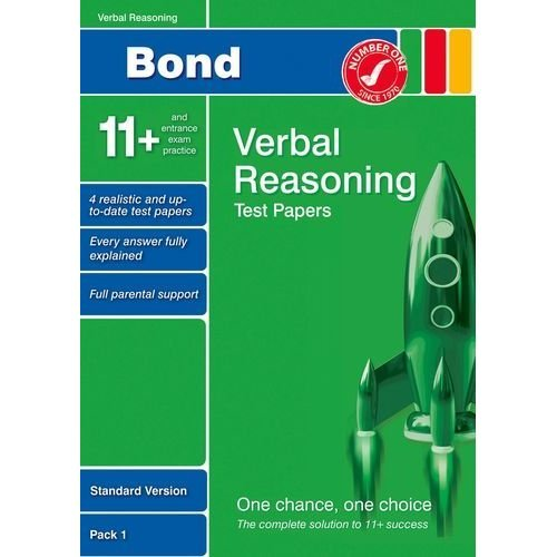 Bond 11+ Test Papers Verbal Reasoning Standard Pack 1