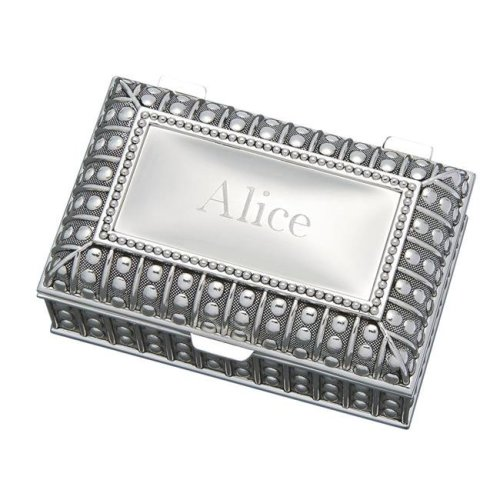 56e5fffe2bc Creative Gifts International 026029 4.5 x 2 in. Beaded Antique Rectangle Box  - Silver Plated on OnBuy