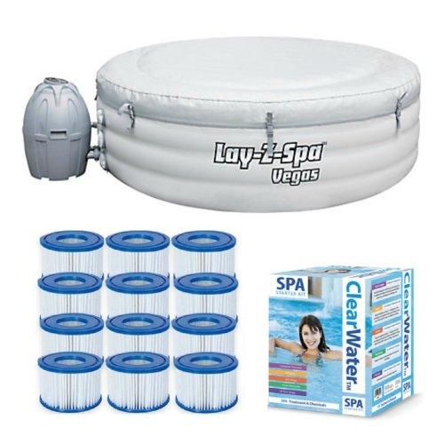 Bestway Lay-Z-Spa Vegas & Silver Starter Kit - 12 Filters & Chemical starter kit