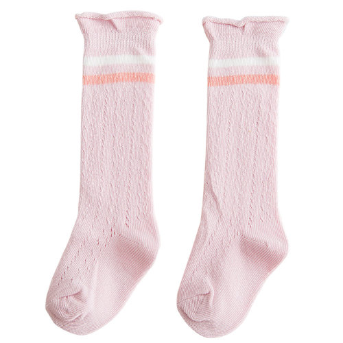 2-4 Years Old Baby Girl Boy Stocking Knit Knee High Cotton Socks, Unisex [B]