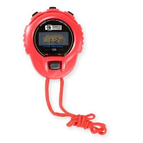 GQ Brands 9815SWR Pure Fitness Stop Watch, Red