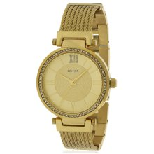 Guess Gold-Tone Stainless Steel Ladies Watch U0638L2