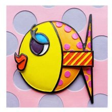 [My Sunshine] 3D Fish Paint-By-Number Kits DIY Painting Crafts for Kids Over 5Y