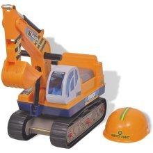vidaXL Ride-on Excavator Plastic Yellow