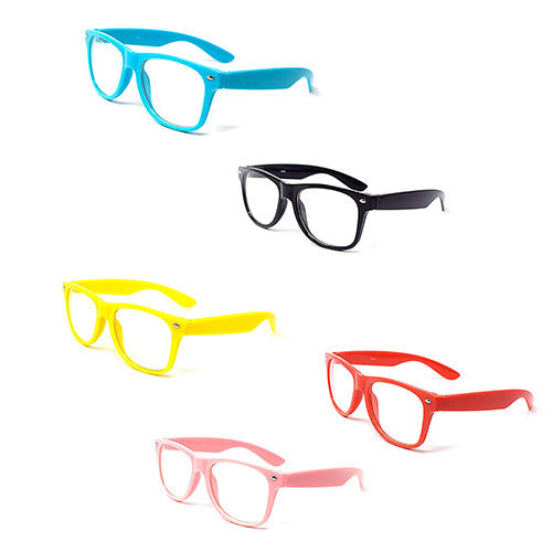Ultra ® Adults Costume Glasses Classic Style Multi Colour Clear Lens Frames Perfect for Costumes Parties Cosplay World Book Day Fancy Dress For Hipsters Nerds Geek Look Men Women Unisex