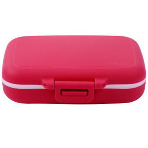 Portable Travel First-Aid Kit Medicine Storage Box Pill Sorter Container Rose