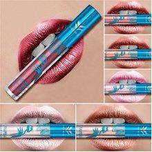 HUAMIANLI Matte Metallic Lip Gloss Makeup Waterproof 12 Colors Velvet Lipstick Cosmetic