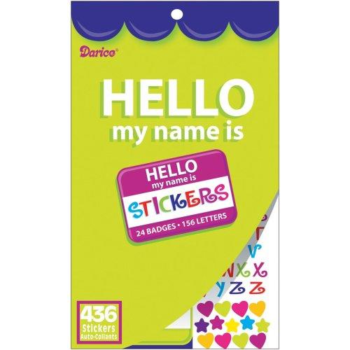 "Sticker Book 9.5""X6""-Hello My Name Is 436/Pkg"