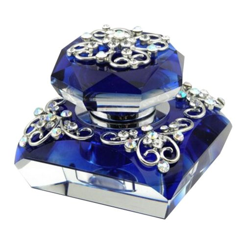 Car Perfume Crystal Car Air Freshener Perfume Bottle for Car Creative [Blue-1]