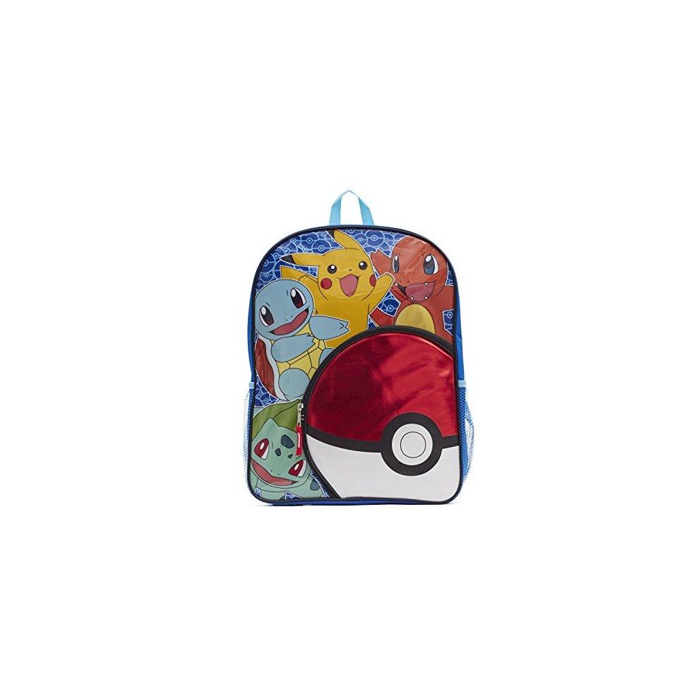 Pokemon Big Boys Pokeball Pocket 16 quot  Backpack 84e2bdf2c4e04