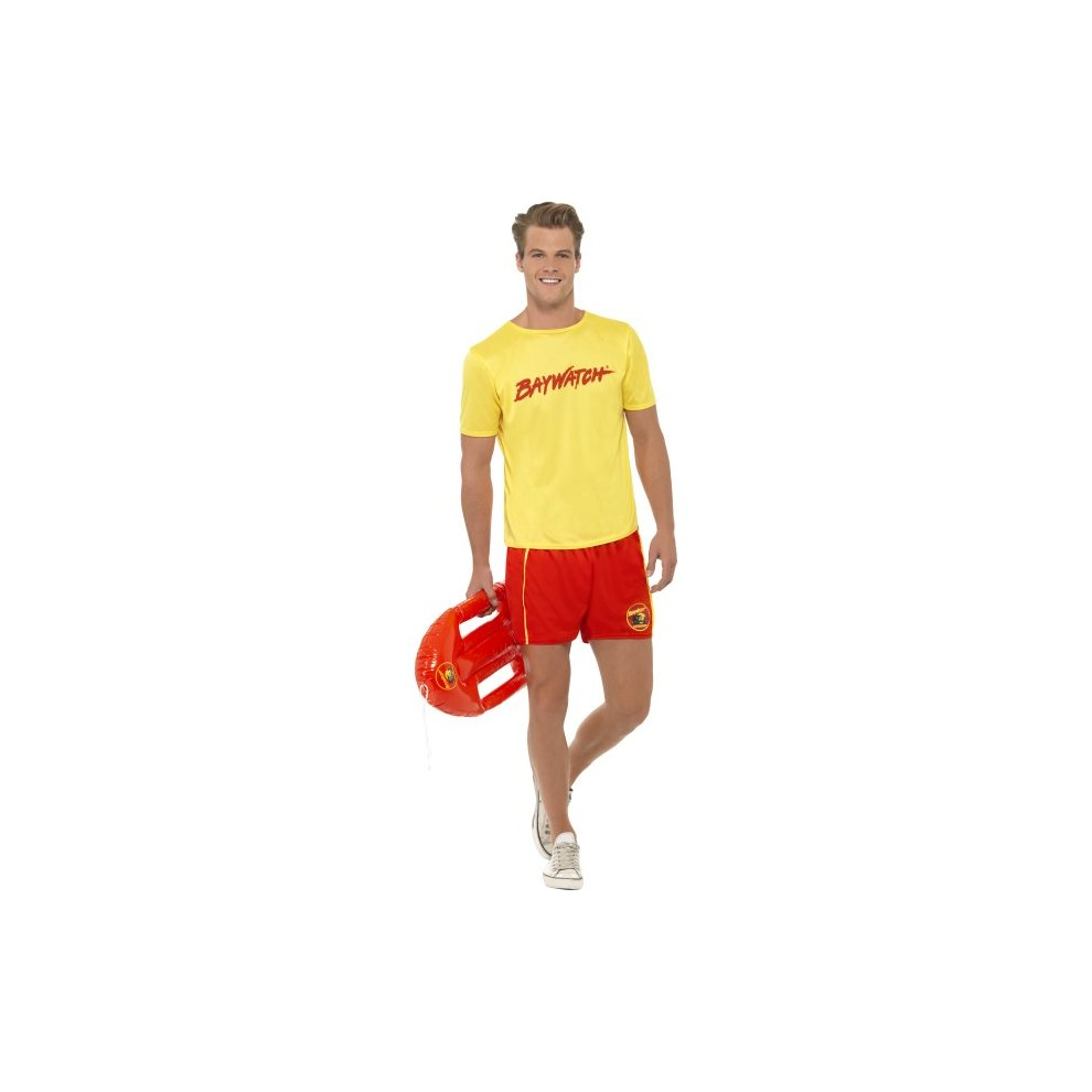Smiffys Adult Mens Baywatch Mens Beach Costume Top And Shorts