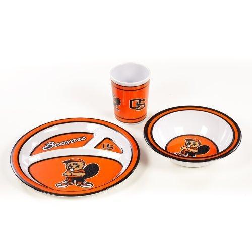 NCAA Oregon State Beavers Kids Dish Set (3-Piece)