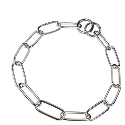 HS Sprenger Chrome Plated Long Link Dog Collar