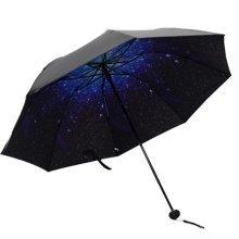 Fashion Unique Folding Sun And Rain Umbrella Starry