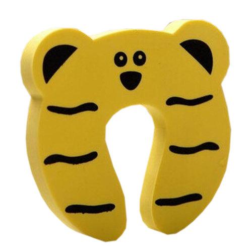 """Set of 5 Lovely Tiger Elasticity Door Stop Children Cartoon Door Holder 4*0.5"""""""