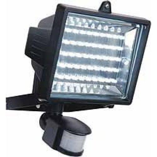 45 LED Security Floodlight With Pir Motion Sensor -  45 led light pir security motion sensor bulb white flood outdoor lighting new floodlight