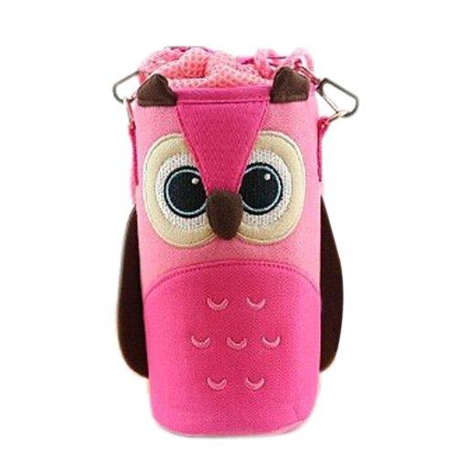 Lovely Baby Bottle Messenger Bag/Keep Warm (22*9*9CM),Pink Owl