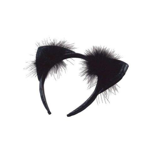 Bristol Novelty Fluffy Cat Ears Headband | Black Cat Ear Headband