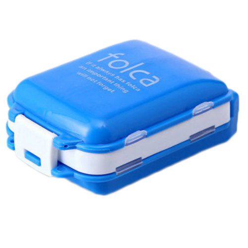 Portable 7 Day Pill Reminder Medicine Storage Container Pill Case, Blue