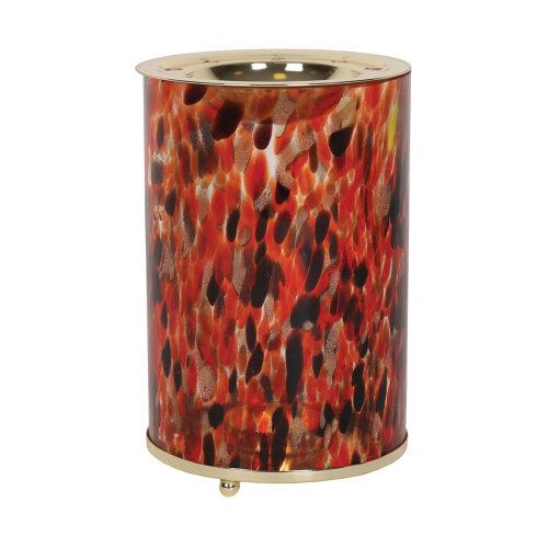 Aroma Art Glass Wax Melt Burner, Red