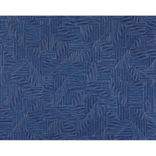 EDEM 913n-27 wallpaper non-woven 3D embossed basketwork pattern blue | 10.65 sqm