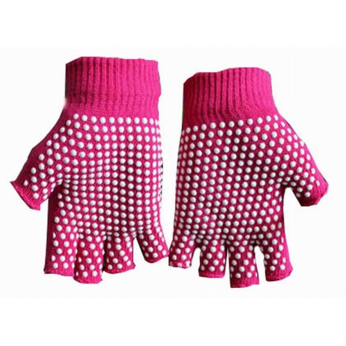 Women's Yoga Gloves Practical Non-slip Cartoon Gloves, Red