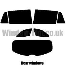 Pre cut window tint - Vauxhall Insignia Estate - 2008 to 2017 - Rear windows