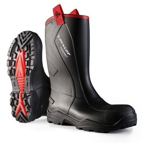 Dunlop C76204306 Purofort + Rugged Full Safety Wellington Black Size 6