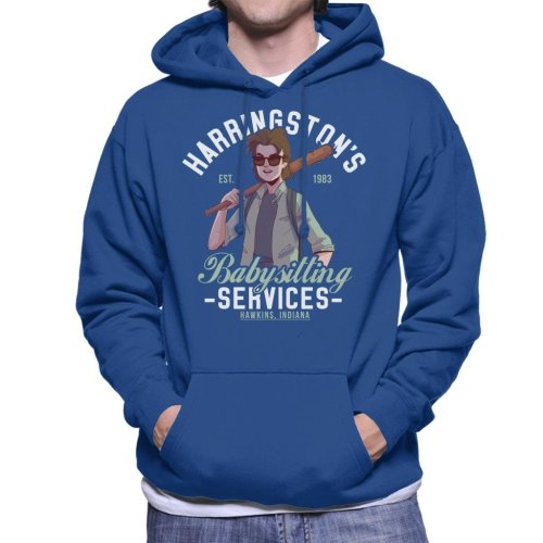 Stranger Things Harringtons Babysitting Agency Men's Hooded Sweatshirt