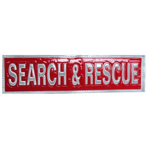 Reflective SEARCH and RESCUE Patch -Red-30 x 8cm