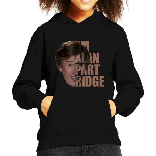 Alan Partridge Half Head Text Kid's Hooded Sweatshirt
