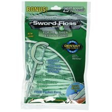 Sword Floss Disposable Floss/Pick, Mint, 50-Count, (Pack of 12)