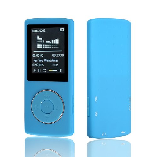 HccToo Music Player 16GB Portable Lossless Sound MP3 Player 45 Hours  Playback (Blue)