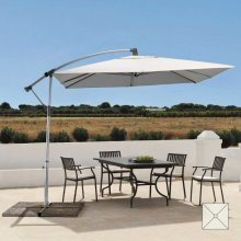 Free Arm Square Garden Parasol 2,5 m with UV protection Waterproof SHADOW