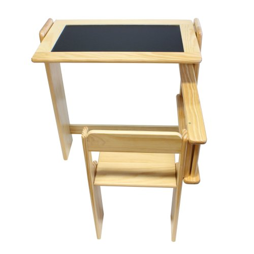 Children's Furniture 2 in 1 Pine Folding Desk and Chair Set