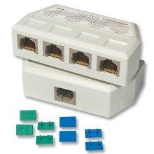 Lindy UTP/RJ45 4 Port Y Adapter White network splitter