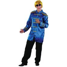 Blue Men's Sargent Pepper Jacket - Fancy Dress Sgt Costume 60s Mens Beatles -  pepper jacket fancy dress sgt costume blue 60s mens beatles budget